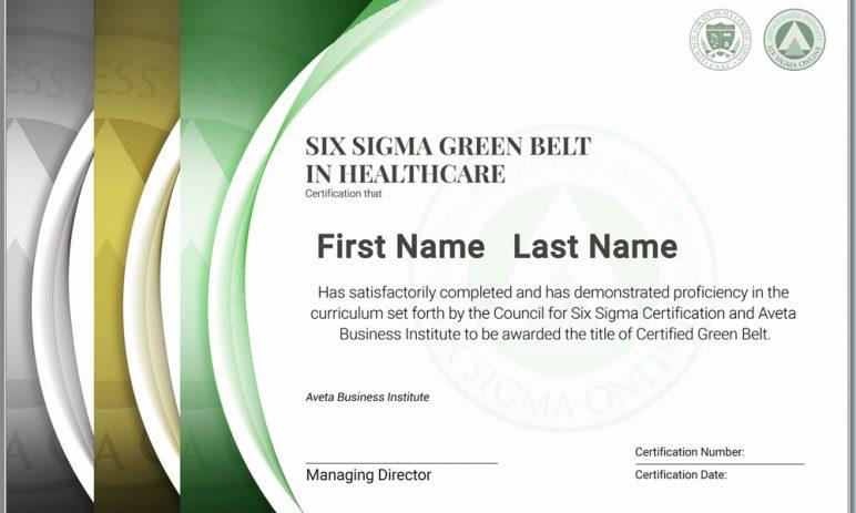 Mẫu chứng nhận Six sigma Green belt