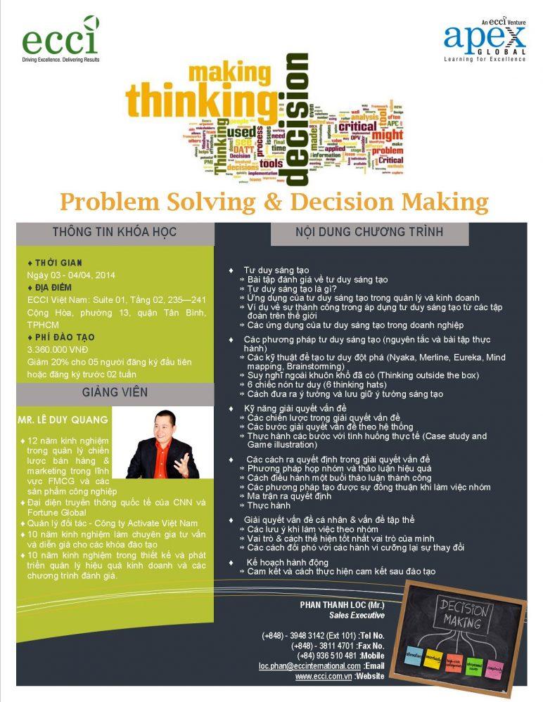 một số cách thực hành kỹ năng giải quyết vấn đề