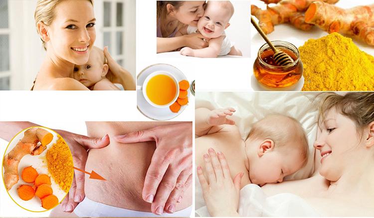 Tinh bột nghệ cho phụ nữ sau sinh
