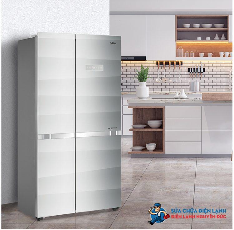 Tủ lạnh SBS Aqua Inverter 518 lít AQR-IG585AS(SG)
