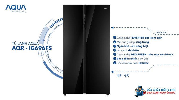 Tủ lạnh SBS Aqua Inverter 602 lít AQR-IG696FS(GB)
