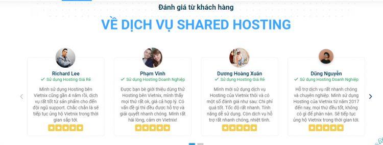 Những nhận xét khách hàng dành cho sản phẩm và dịch vụ hỗ trợ của Vietnix