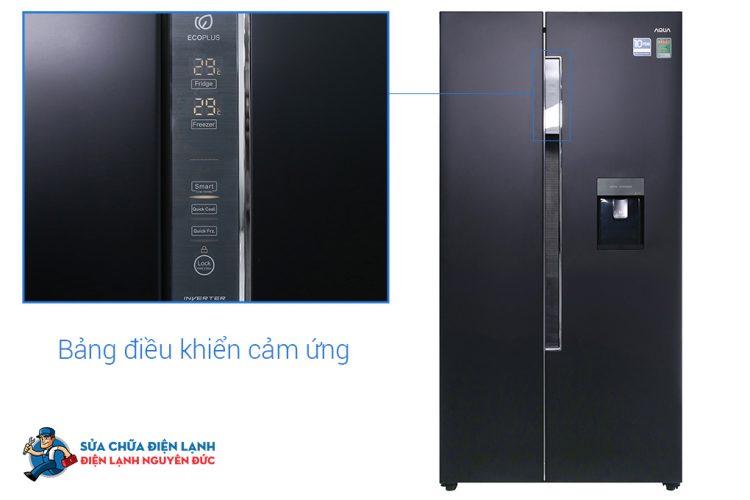 Tủ lạnh SBS Aqua Inverter 510 lít AQR-I565AS(BS)