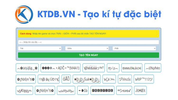 Giới thiệu về website KTDB.VN – Tạo kí tự đặc biệt