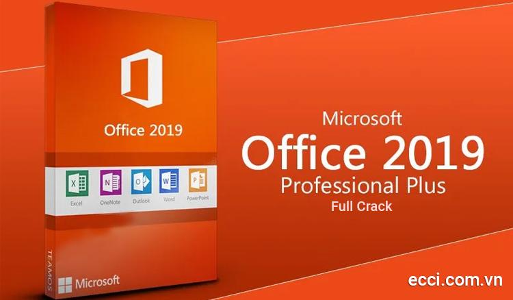 Office 2019 full crack sở hữu danh sách phần mềm đa dạng