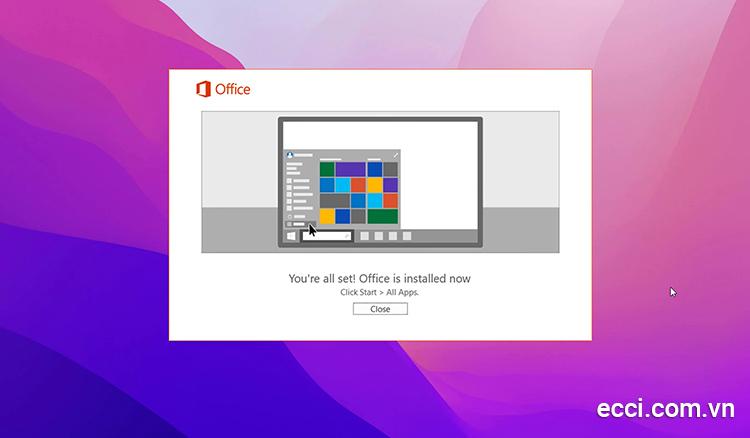 Hướng dẫn cài đặt Microsoft Office 2016 hoàn thành
