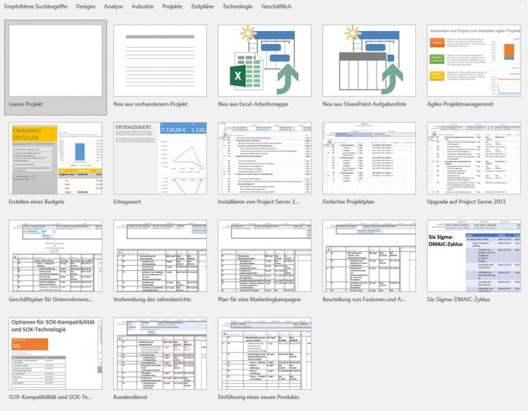 Giao diện mới của Microsoft project 2016