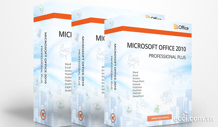 Các phần mềm trong bộ Microsoft Office 2010 Professional Plus